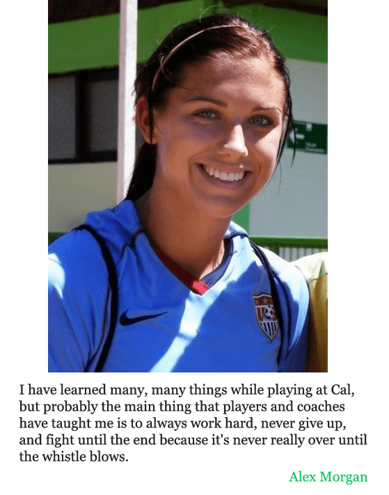 alex morgan quotes about soccer