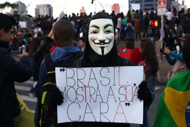 sao paulo brazil city, world cup protest