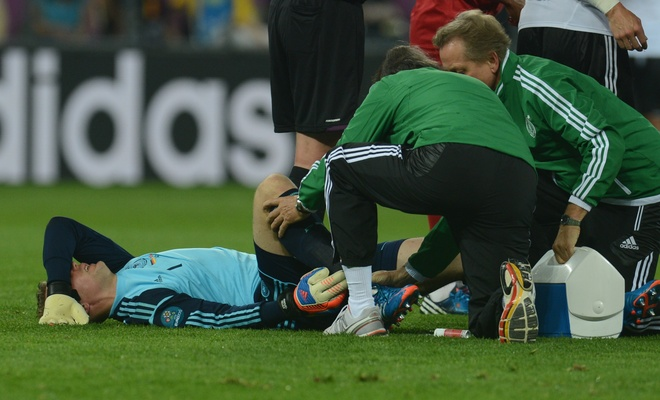 Neuer injury, german injury