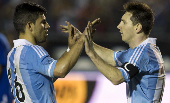 fifa world cup 2014, messi and aguero