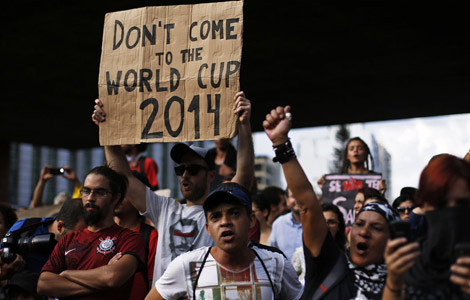 anti-world cup protests, rio riot