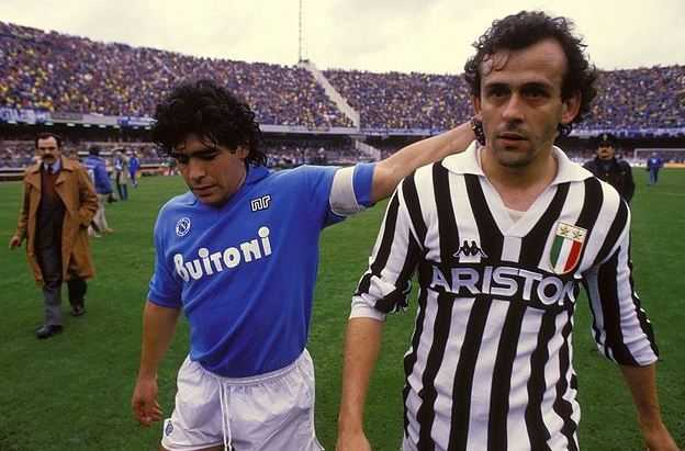 Platini and Maradona in one frame, champions league top scorers, UCL teams