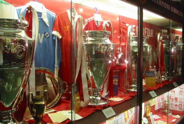 Trophy case of Liverpool, UCL legends, best UCL teams