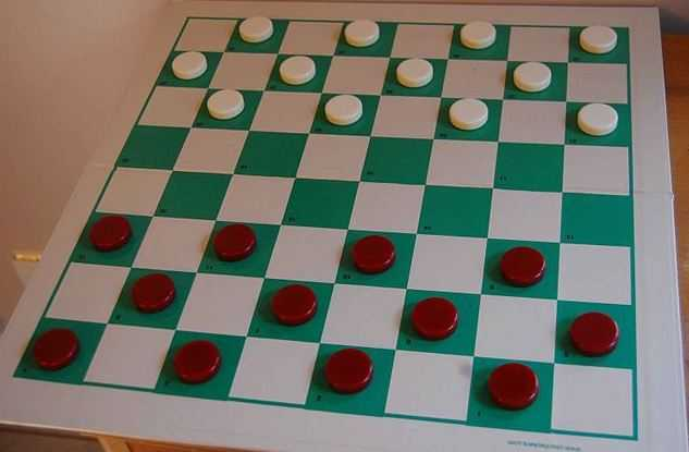 Checkers board, most played board games